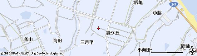 愛知県南知多町(知多郡)大井(緑ケ丘)周辺の地図