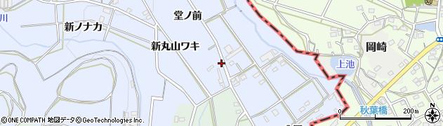 愛知県豊橋市雲谷町(堂ノ前)周辺の地図