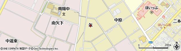 愛知県豊橋市中野町(欠)周辺の地図