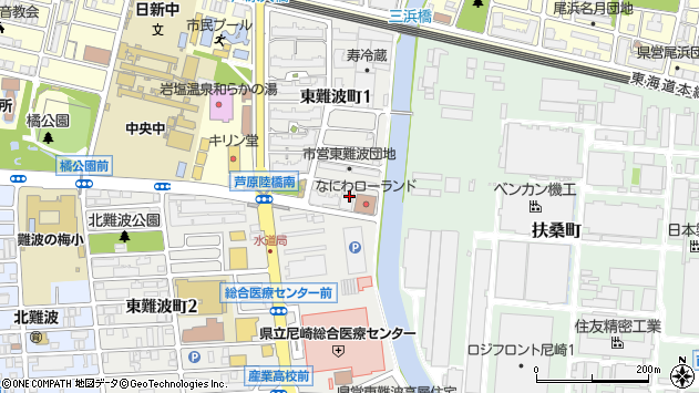 〒660-0892 兵庫県尼崎市東難波町の地図