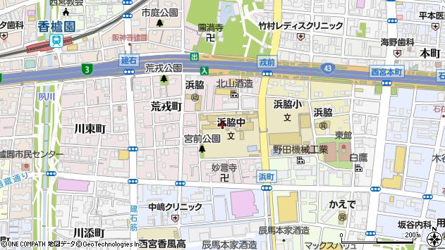 〒662-0947 兵庫県西宮市宮前町の地図