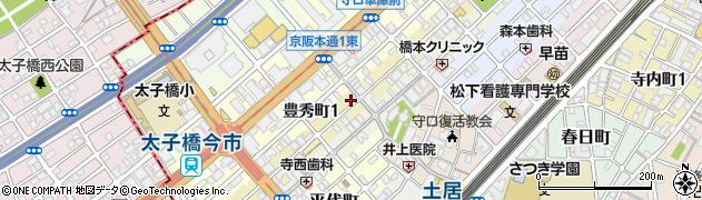 大阪府守口市日吉町周辺の地図