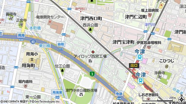 〒663-8233 兵庫県西宮市津門川町の地図