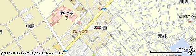 愛知県豊橋市中野町(二本松西)周辺の地図