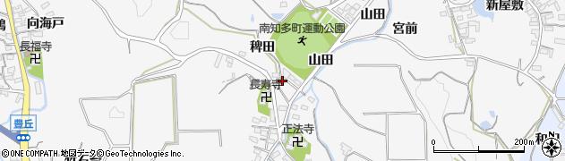 愛知県南知多町(知多郡)豊丘(稗田)周辺の地図