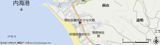 愛知県南知多町(知多郡)内海(一色)周辺の地図