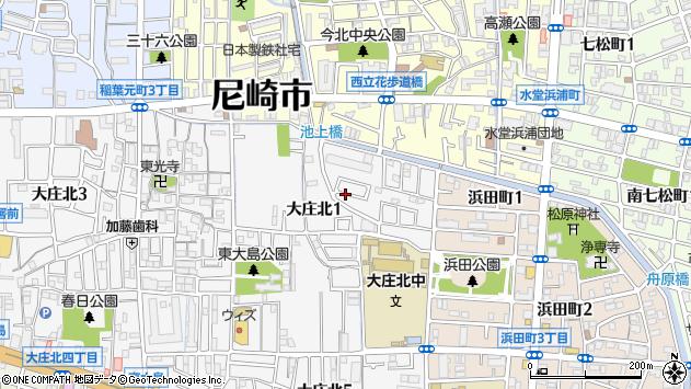 〒660-0063 兵庫県尼崎市大庄北の地図