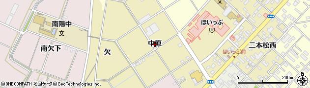 愛知県豊橋市中野町(中原)周辺の地図