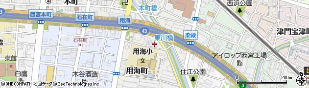 ランズ西宮周辺の地図