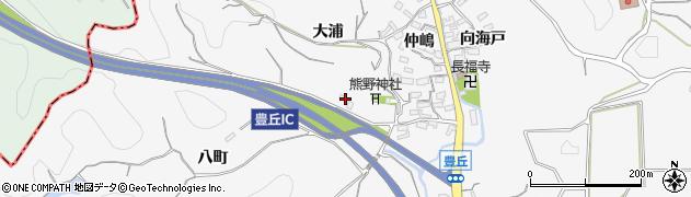愛知県南知多町(知多郡)豊丘(八町)周辺の地図
