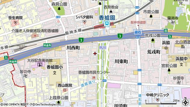 〒662-0951 兵庫県西宮市川西町の地図