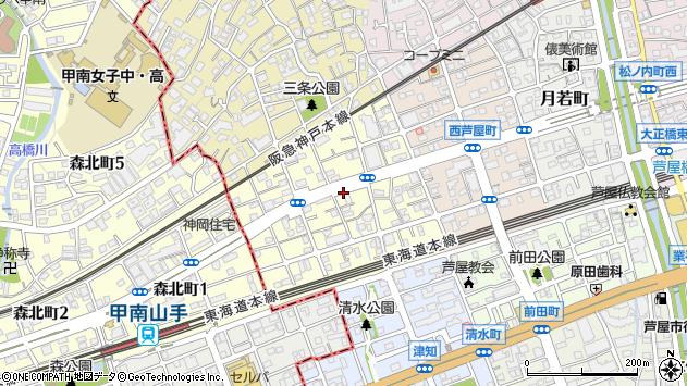 〒659-0086 兵庫県芦屋市三条南町の地図