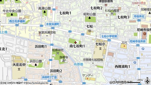 〒660-0053 兵庫県尼崎市南七松町の地図