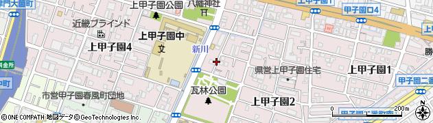 兵庫県西宮市上甲子園周辺の地図