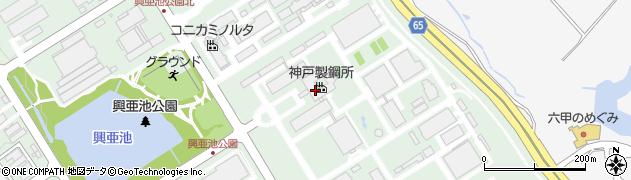 兵庫県神戸市西区高塚台1丁目周辺の地図