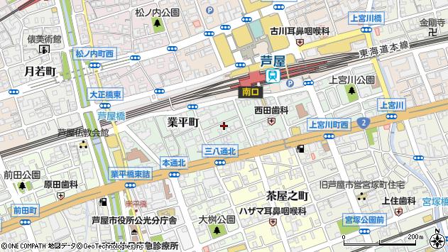 〒659-0068 兵庫県芦屋市業平町の地図
