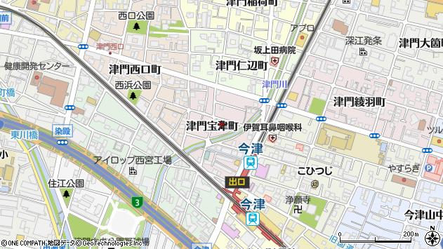 〒663-8232 兵庫県西宮市津門宝津町の地図