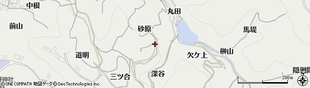 愛知県南知多町(知多郡)内海(砂原)周辺の地図
