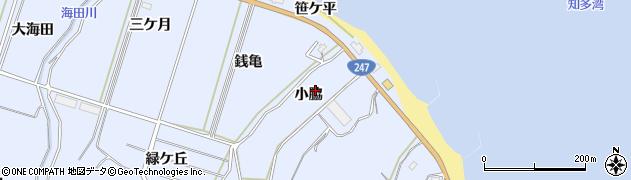 愛知県南知多町(知多郡)大井(小脇)周辺の地図
