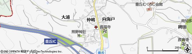 愛知県南知多町(知多郡)豊丘(仲嶋)周辺の地図