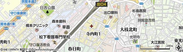 大阪府守口市寺内町1丁目1-16周辺の地図