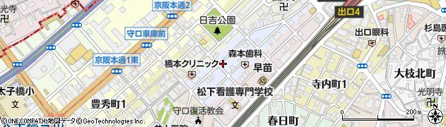 大阪府守口市祝町周辺の地図