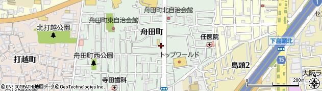 大阪府門真市舟田町周辺の地図