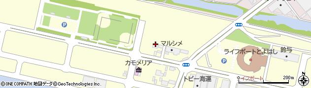 愛知県豊橋市神野ふ頭町周辺の地図