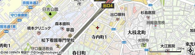 大阪府守口市寺内町1丁目1-15周辺の地図
