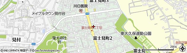 静岡県磐田市富士見町周辺の地図