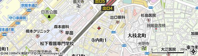 大阪府守口市寺内町1丁目1-13周辺の地図