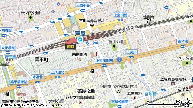 〒659-0061 兵庫県芦屋市上宮川町の地図