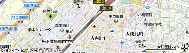 大阪府守口市寺内町1丁目1-4周辺の地図