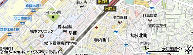 大阪府守口市寺内町1丁目1-5周辺の地図