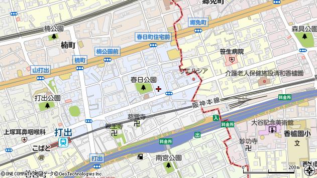 〒659-0021 兵庫県芦屋市春日町の地図