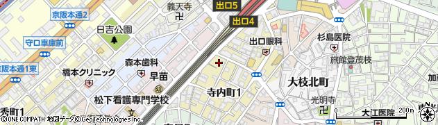 大阪府守口市寺内町1丁目1周辺の地図