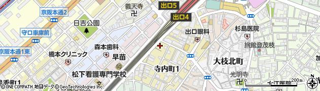 大阪府守口市寺内町1丁目1-8周辺の地図