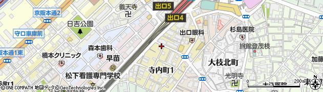 大阪府守口市寺内町1丁目1-11周辺の地図