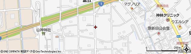 静岡県磐田市富丘周辺の地図