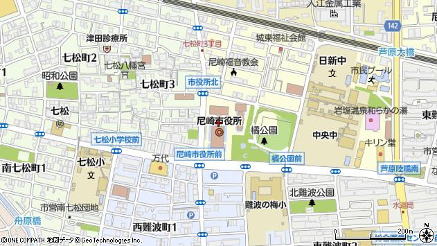 〒660-0000 兵庫県尼崎市(以下に掲載がない場合)の地図