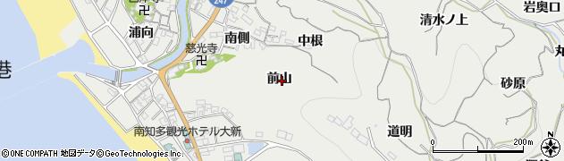 愛知県南知多町(知多郡)内海(前山)周辺の地図