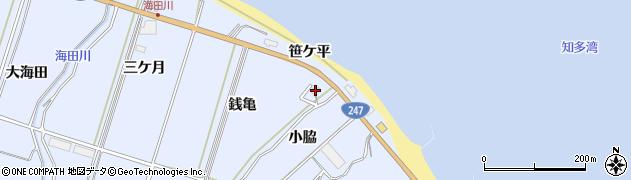 愛知県南知多町(知多郡)大井(銭亀)周辺の地図