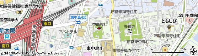 中島惣社周辺の地図