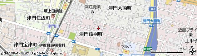 兵庫県西宮市津門綾羽町周辺の地図