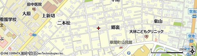 愛知県豊橋市草間町周辺の地図