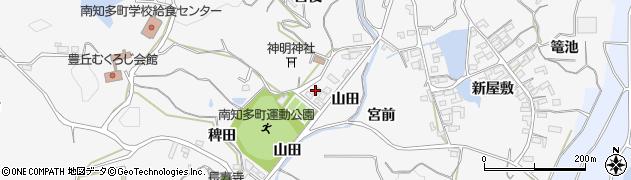 愛知県南知多町(知多郡)豊丘(山田)周辺の地図