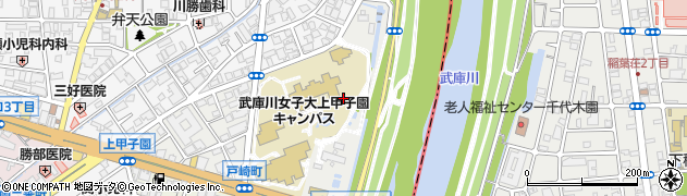 兵庫県西宮市戸崎町周辺の地図