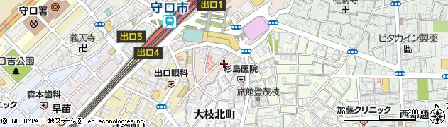 大阪府守口市河原町周辺の地図