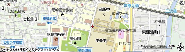 兵庫県尼崎市東七松町周辺の地図