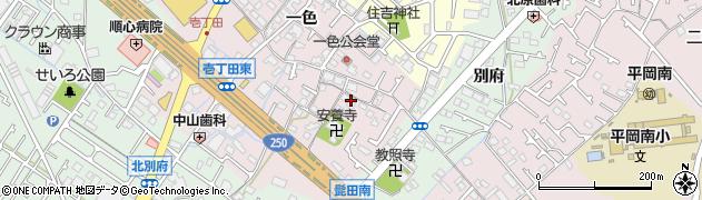 兵庫県加古川市平岡町(一色)周辺の地図
